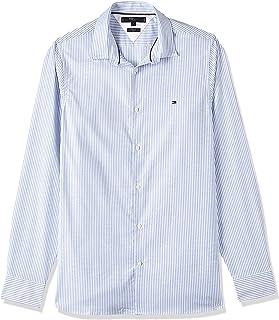 قميص ايثاكا بقصة ضيقة ذات نسيج مرن للرجال من تومي هيلفجر، لون ازرق