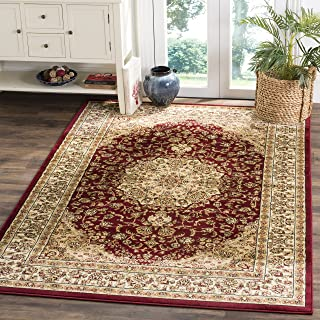 Safavieh Lyndhurst Collection LNH222B Traditional Oriental Medallion Red and Ivory Area Rug (4' x 6')