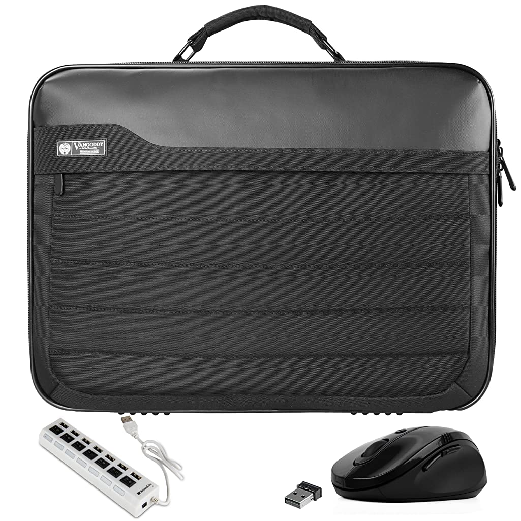 VanGoddy Trovo Professional Laptop Briefcase Bag with USB Hub and Mouse Suitable for Lenovo IdeaPad, Flex, Yoga, ThinkPad, Legion, N Series, V Series 13