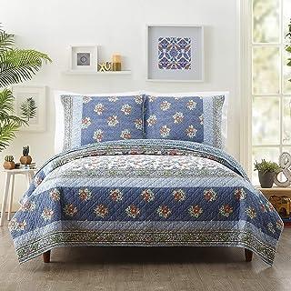 Jessica Simpson TALCA Quilt, King, Blue