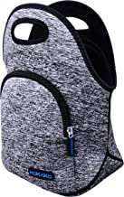 Lunch Boxes Neoprene Lunch Bag by KOKAKO Tote Washable Insulated Waterproof for Men Women Kids(GrayBlue-WithPocket)