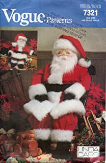 Vogue Pattern 7321 / 636 Large and Small Santa Dolls by Linda Carr