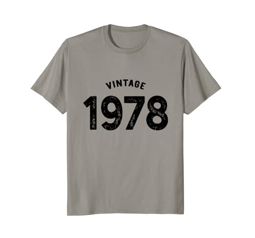2683f57b Image Unavailable. Image not available for. Color: Vintage 1978 Shirt 40th  Birthday ...