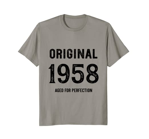 596699626e29 Image Unavailable. Image not available for. Color  Original 1958 Aged For  Perfection T Shirt 60th Birthday Gift