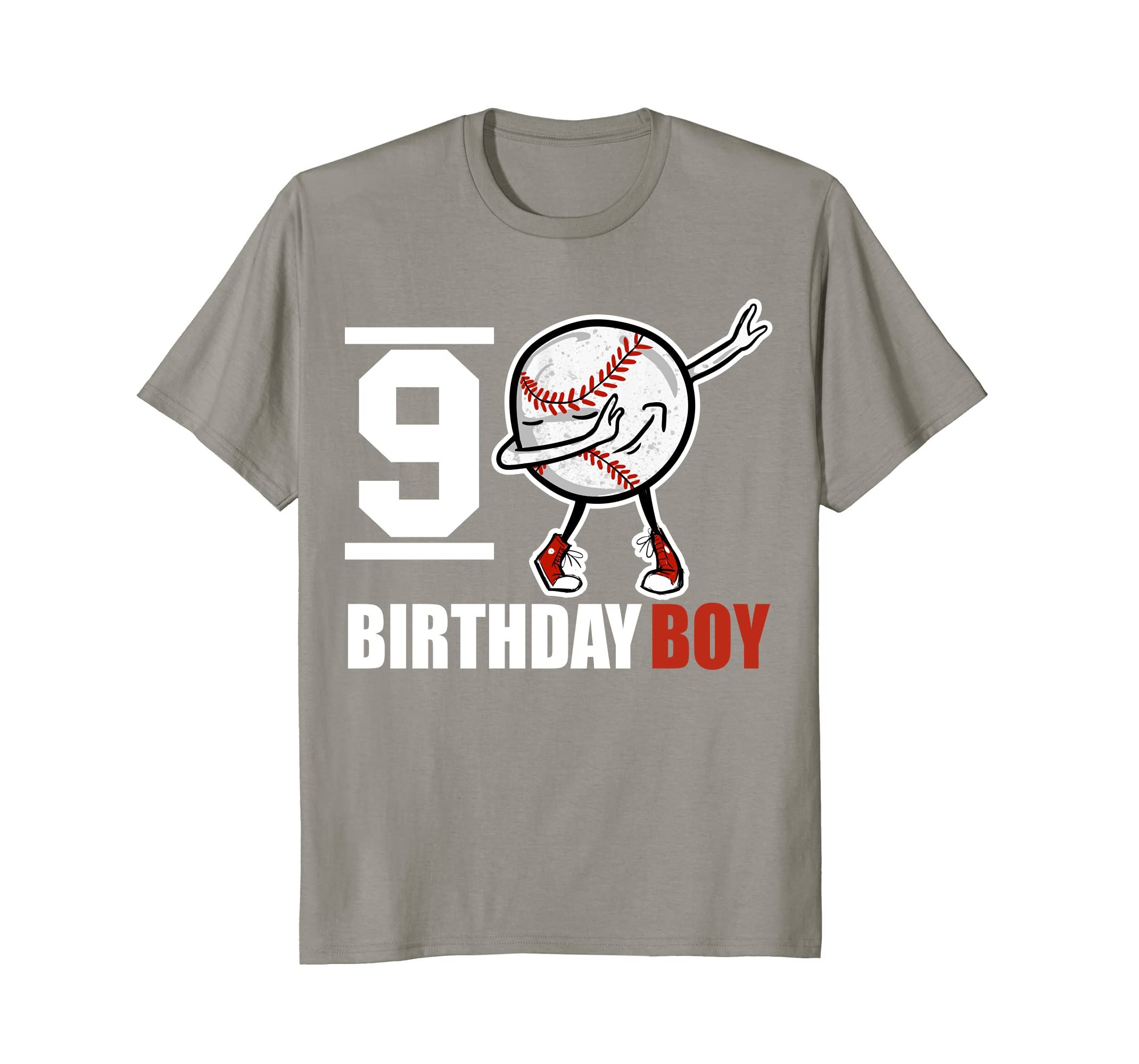 9 Year Old Birthday Dabbing Baseball T Shirt 9th Boy Gift Awarplus