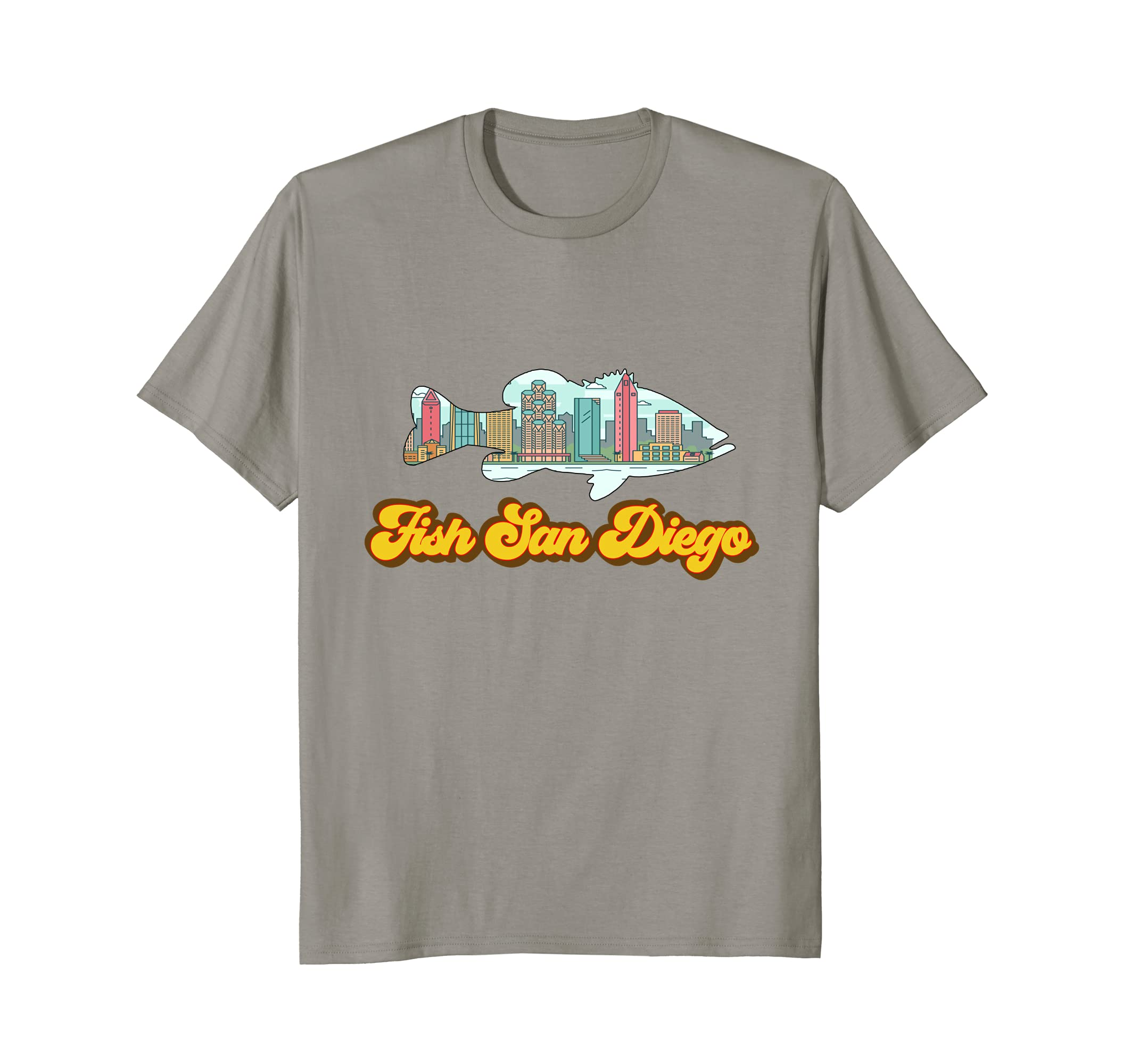 bc4deb6be3a San Diego Skyline Largemouth Bass TShirt Fish San Diego Tee-alottee gift