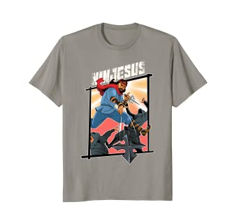 54067fa0 Image Unavailable. Image not available for. Color: Funny Jesus Ninja T-Shirt  Awesome ...