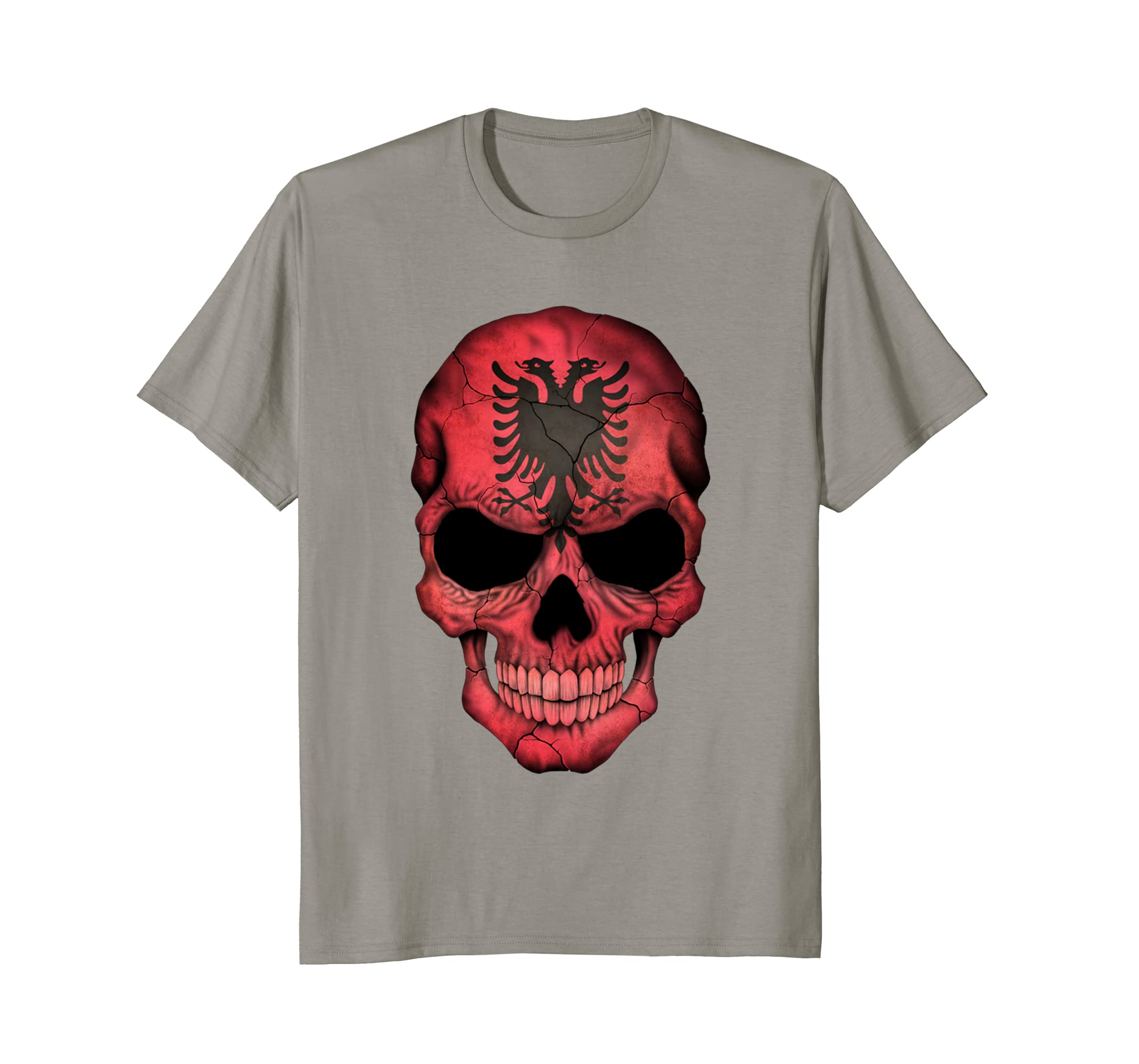 ba981d7b Fearless Skeleton Skull Head Red Bandana Face Mask T-Shirt Long ...