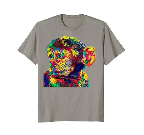 d07fb2189 Amazon.com: Barbary Macaque Monkey T-Shirt: Clothing