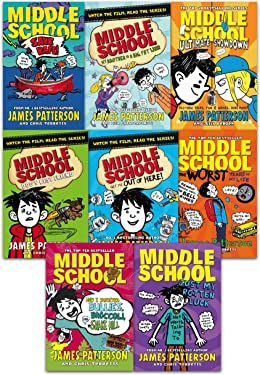 James Patterson Middle School Collection 8 Books Set
