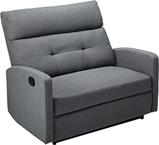 Christopher Knight Home Hana Recliner, Fabric/Charcoal