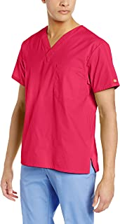 Dickies Camisa de Cuello en V para Hombre