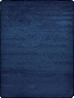 Euro Collection Solid Color Area Rug Rugs Slip Skid Resistant Rubber Backing Machine Washable More Color Options (Navy Blue, 5 x 7 (4'11' x 6'6