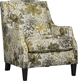 Benchcraft - Mandee Contemporary Print Upholstered Accent Chair - Pewter