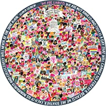 eeBoo Women March Round Jigsaw Puzzle for Adults, 500 Pieces