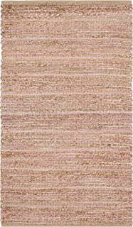 Safavieh Cape Cod Collection CAP851E Hand Woven Light Pink Jute and Cotton Area Rug (2' x 3')