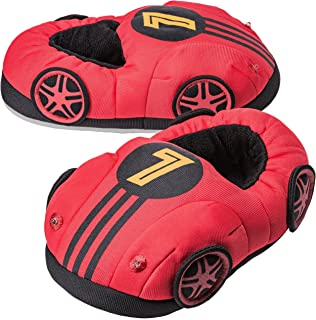 Image of Boys Light Up Race Car Slippers - Glow in the Dark