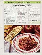 Great American Home Baking Recipe Card: 10 Cobblers, Custards & Fruit Crisps - Card 13 Apple Cranberry Crisp (Replacement Page or Recipe Card For 3-Ring Binders)