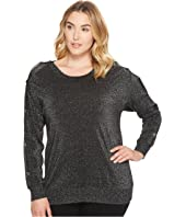 MICHAEL Michael Kors - Plus Size Lurex Button Sweater