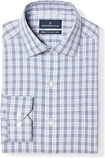 Amazon Brand - BUTTONED DOWN Men's Tailored Fit Plaid...