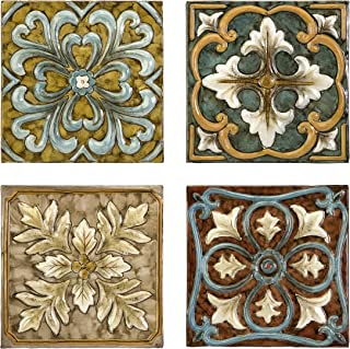 IMAX 12764-4 Casa Medallion Tiles, Set of 4