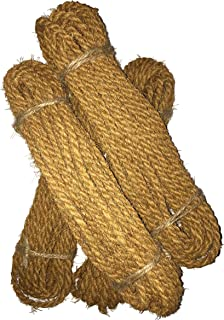 La Deins Coir Twine 85 LBS-12 m / 39 Feet Coconut Coir Fiber Rope Thickness 5 mm for Plant Ties, Agricultural Works (4)