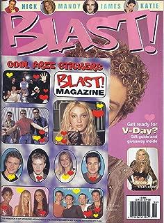 Blast Magazine With Cool Free Stickers (#36 - Justin Timberlake, Britney Spears, Oscar De La Hoya)