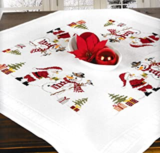 Printed Stamped Cross Stitch Tablecloth Kit for Embroidery (