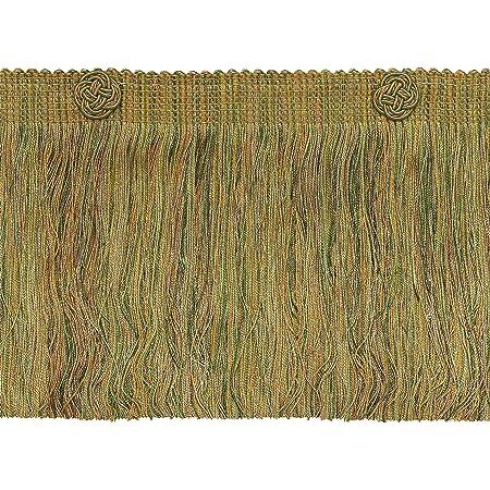 Terracotta Baroque Coll Eyelash Fringe W//Rosette Style# 6ELFR Color: Chaparral Olive Green 15 Ft // 4.5 Meters D/ÉCOPRO 5 Yard Value Pack of 6 inch Light Bronze 5615