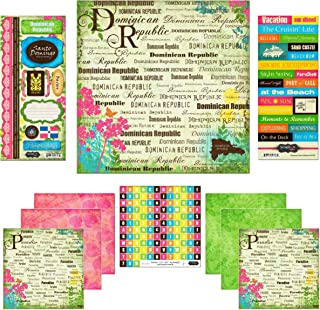 Scrapbook Customs Themed Paper and Stickers Scrapbook Kit, Dominican Republic Paradise