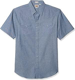 ELY CATTLEMAN Men's Short Sleeve Chambray Workshirt