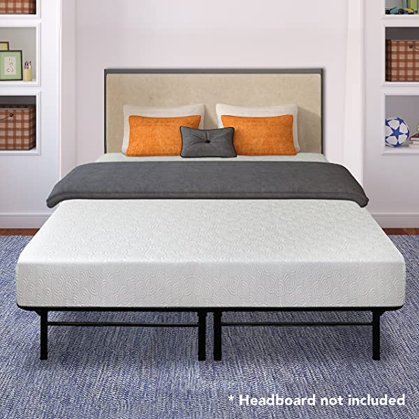 Best Price Mattress 7 Gel Memory Foam Mattress And 14 Dual Use Steel Bed Frame Foundation Set Full