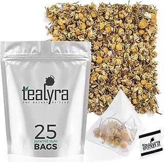 Tealyra - Egyptian Chamomile Tea Pyramids Bags - Herbal Tea - Bedtime Tea - Anxiety and Stress Relief - Organically Grown ...