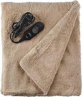 Sunbeam Heated Throw Blanket | LoftTec, 3 Heat Settings, Sand - TSL8TS-R783-31A00
