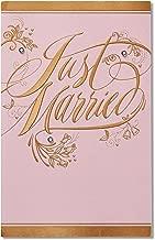 American Greetings Just Married Wedding Card with Rhinestones