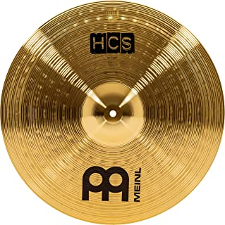 "Meinl 18"" Crash Cymbal – HCS Traditional Finish Brass for Drum Set, Made In Germany, 2-YEAR WARRANTY (HCS18C)"