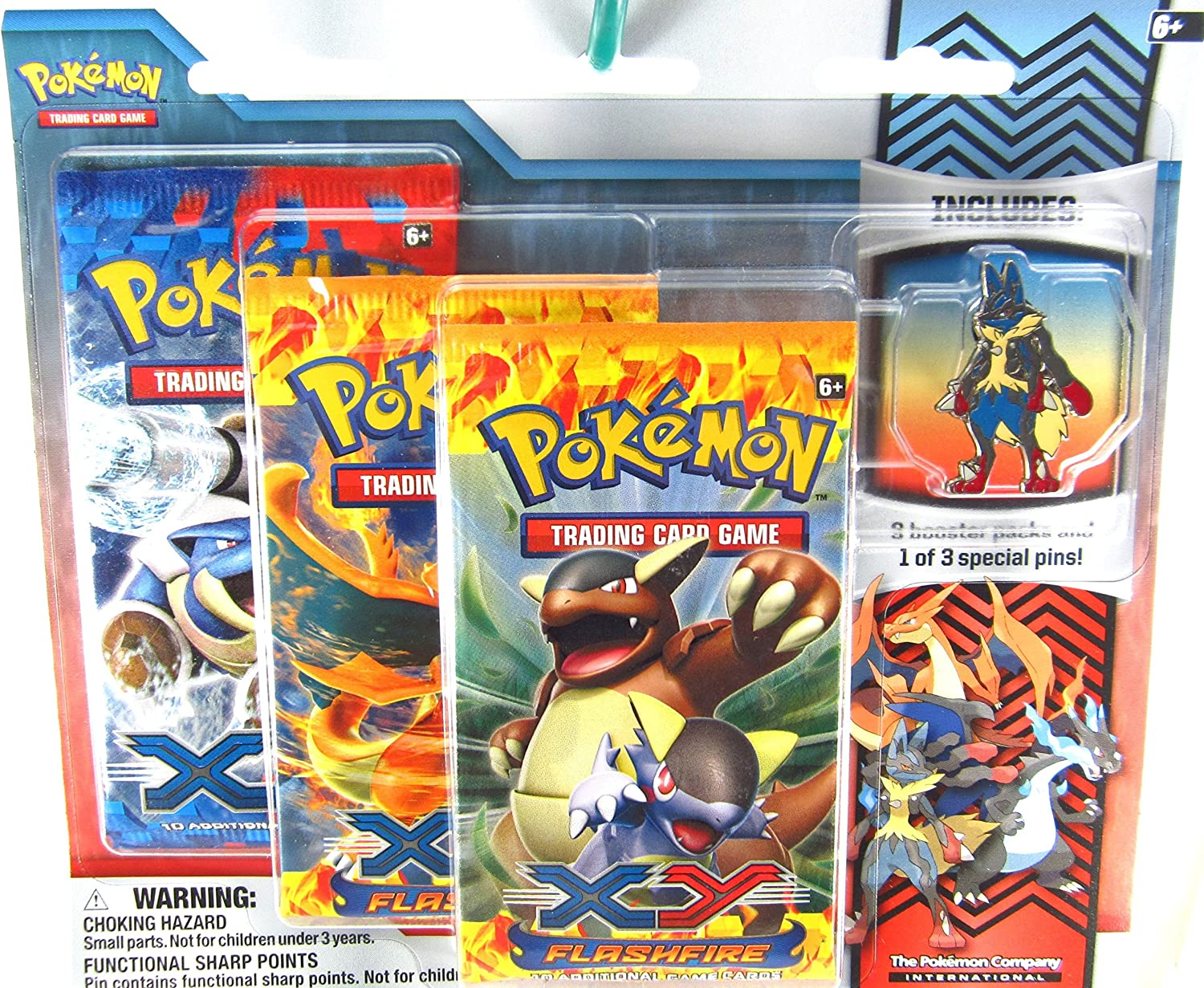Pokemon XY Flashfire Trading Card Game Booster Pack Pin Set Mega Lucario