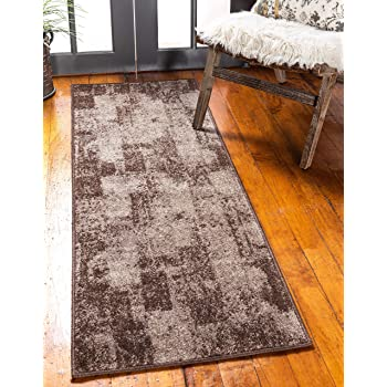 Unique Loom Autumn Collection Casual Solid Vintage Warm Toned Brown Runner Rug (2' 0 x 6' 0)