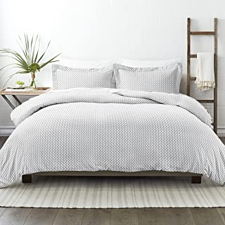 Simply Soft Duvet Cover Set Patterned, Queen, PUFFED CHEVRON LIGHT GRAY