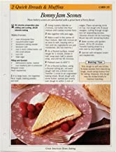 Great American Home Baking Recipe Card: 2 Quick Bread & Muffins - Card 25 Bonny Jam Scones (Replacement Page or Recipe Card For 3-Ring Binders)