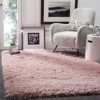 Safavieh Polar Shag Collection PSG800P Light Pink Area Rug, 5'1