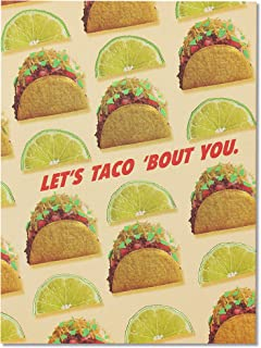 Funny Taco Thank You Card with Foil