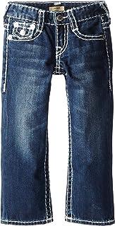 True Religion Boys' Ricky Boot Fit Natural Super T 5 Pocket Jeans - Blue