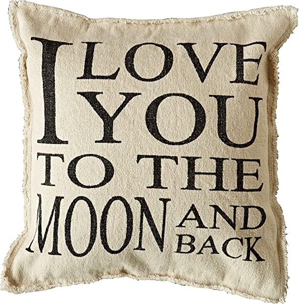 Creative Co Op Cotton I Love You To The Moon And Back Pillow 20 L X 20 H Multicolor 4 Piece