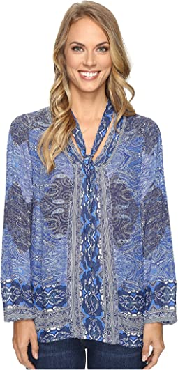 6e5a6d08119 Lucky Brand. Tunic Top. $22.38MSRP: $89.50. Blue Multi