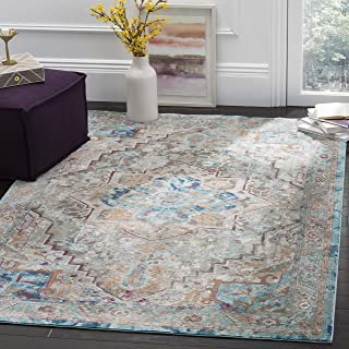 Safavieh Aria Collection Abstract Area Rug, 9' x 12', Beige/Blue