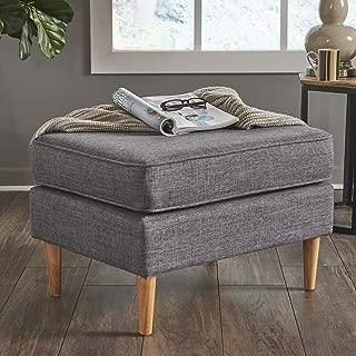 armchair with storage ottoman