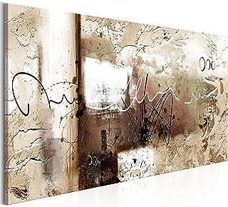 murando - Cuadro en Lienzo sintético Abstracto 150x50 cm Cuadro de Pared impresión artística fotografía Imagen gráfica decoración a-A-0331-b-d