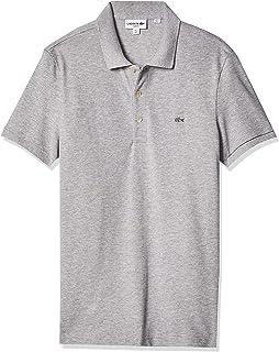 Lacoste Men's Stretch Mini Pique Slim Fit Polo Shirt, Silver Chine, 7