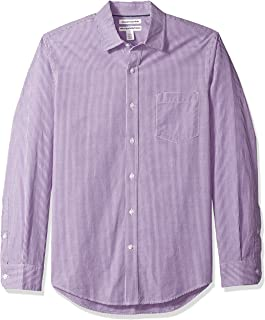 Men's Slim-Fit Long-Sleeve Casual Poplin Shirt